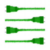 electrical cords that look like they're made out of grass