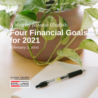 4 fiancial goals for 2021 blog post-plant in background w/pen on notebook